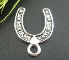 PD: 30 Hufeisen Charms Anhänger Glücksbringer Amulette für Kette Perlen Beads