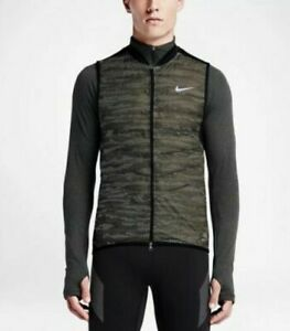 Nike Men's Aeroloft Flash Running 3M Vest Military Green 689168 325 Size S