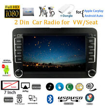 7''2 Din GPS Android Car Radio+Dongle for VW/Seat Airplay FM BT Touch Wifi Siri