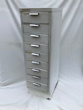 More details for metal index cabinet,  industrial, 9 drawer's ,myers kingsbury