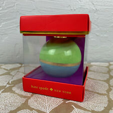 Kate Spade Lenox Christmas Porcelain Ball Ornament Be Merry Be Bright New In Box