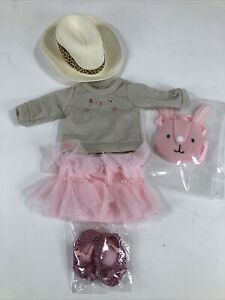 """Doll Skirt w/ Top Outfit Fits 18"""" American Girl Doll Clothes, My Generation Doll"""