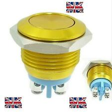16mm HORN START Momentary GOLD Stainless Steel  Push Button Switch UK BASED