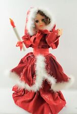"""Vintage Holiday Motionette Display Doll Christmas Decor 24"""""""
