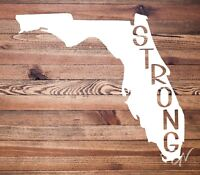 Florida Strong State Outline Vinyl Decal Sticker • Great for tumblers & windows