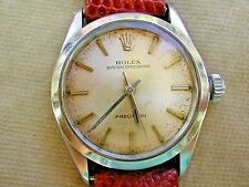 1966 ROLEX OYSTER SPEEDKING MID-SIZE WATCH ON LIZARD, SERVICED CALIBER 1225.