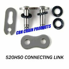 520 O Ring Connecting Link, 520 SRO Chain, 520 HSO Chain, Quad Staked New