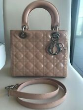 authentic CHRISTIAN DIOR year 2012 Lady Dior light pink,strap additional $200
