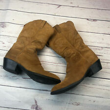 Ariat Women's Cowboy Boots Sz 9B Brown Leather Style 15713 Western Pull On
