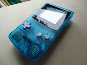 Gameboy Color Shell kit...GLASS screen, WHITE buttons, superb quality