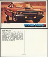 Vintage Color Photo Postcard 1970 Plymouth GTX Muscle Car 229859