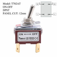 DPST ON-OFF Toggle Switch Power Rocker Switch 4 Brass Feet AC 250V 15A 125V 20A