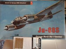 JU -88 S  1/48 SCALE HOBBY CRAFT MODEL+ PHOTOETCHED+BOMBS&SLEDS