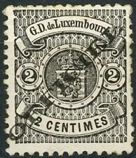Luxembourg Issue of 1875 2 Centimes MNH OG Scott's O12