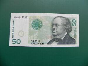 Norwegen Banknoten 50 Kroner