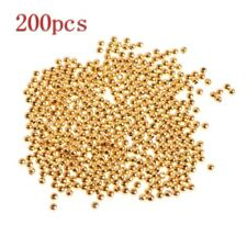 200Pcs/Set 4mm Gold Plated Ball Shape Antique Spacer Beads For Jewelry DIY