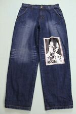 Makaveli Mens Tupac Shakur Graphic Baggy Jeans 36x32(34 Mea) Blue EUC #13939