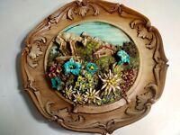Antico piatto in resina souvenir di folgarida