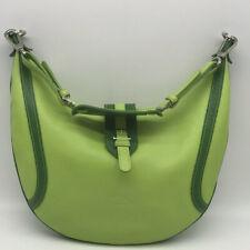 Longchamp Green Leather Hobo Bag
