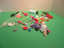 Huge Lot Of Barbie Shoes, Brushes, Suitcase And Other Accessories