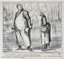 Honore Daumier France 1808-1879 Lithograph Actualites M'sieu le boucher
