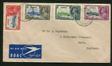 1935 Silver Jubilee Jamaica set on a cover to England