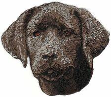 """3.25"""" Chocolate Lab Labrador Retriever Dog Embroidery Patch"""