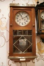 Antique German 8 days Working JUNGHANS  Wind Up Pendulum WALL CLOCK w/ CHIMES