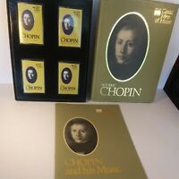 Time Life Great Men Of Music Cassettes Frederic Chopin Set of 4 outside dirty