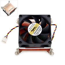 Pure Copper Heatsink 4pin Ball Bearing Fan CPU Radiator 2U Server Intel 115X