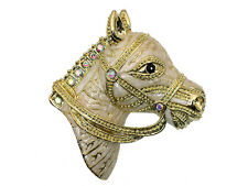 Gorgeous Ab Crystal  Horse Head Pin Brooch C629