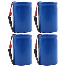4PCS 4/5 Sub C 1600mAh 1.2V Ni-CD Rechargeable Battery Tabs Blue 22.2x34.32mm