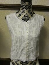 Ladies White Top - Naveed - Size 12 - Used