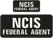 NCIS FEDERAL AGENTembroidery patch 4x10 and 2x5  hook on back white letters