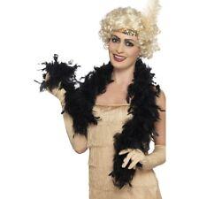 Noir Boa plume 50g 150cm long CHARLESTON Déguisement Burlesque