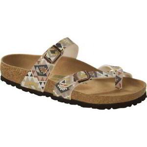 Birkenstock Mayari Vegan Womens Ladies Birko Flor Brown Toe Post Sandals 4-8
