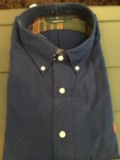 RALPH LAUREN POLO BUTTON-DOWN LONG SLEEVE BLUE TWILL CHINO SHIRT CLASSIC XL NWT