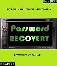 !-!-!- PIONEER PASSWORD REMOVAL AVIC-X920BT AVIC-X930BT AVIC-X9310BT AVIC-X940BT