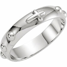 ROSARY 5mm RING SOLID .925 STERLING SILVER SIZE 11