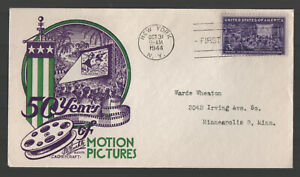 #926 3c Motion Picture FDC Mellone #19 Nice Cachetcraft/Staehle Cachet G5651