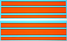 Gulf Stripes For Model Cars Gulf Strips For Modelcars 1:24 Decal