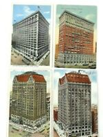 4 Vintage Postcards Hotels in Chicago, Illinois All Posted Early Masonic Temple