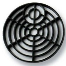 """Black Plastic 6"""" Round Gulley Grid Drain Cover Strong & Durable 1 2 & 10 Pack"""