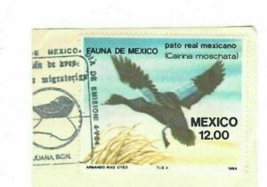 Mexico 1984 Duck Hunting Stamps, FDC on piece!