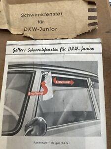 DKW JUNIOR Schwenkfenster Originales Accessoires Sechziger Jahre. Neu.