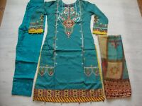 Ethnic Lawn Stitched Embroidered pakistani indian salwar kameez  for 2020 £28