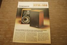 Pioneer HPM-100 Stereo Speaker Original Catalogue  catalog Printed in Japan