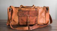 "25"" mens womens genuine Leather vintage duffle travel gym overnight bag for men"
