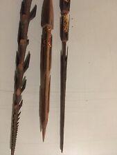 Lot De 3 Flèches Papou Magnifique, Papouasie Nouvelle Guinée Tres Rare 1950
