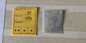 Turks Islands QV 2 1/2 Penny Stamp SG 65 1893